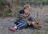 13 year old Dean 2015 with his Hoggy, 120 meter shot in the neck