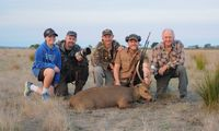 Dean,Thomas Jacko the guide Jens,Neil Thomas is a Photropher and Journalist came with Jens to record the hunt both are from Denmark.